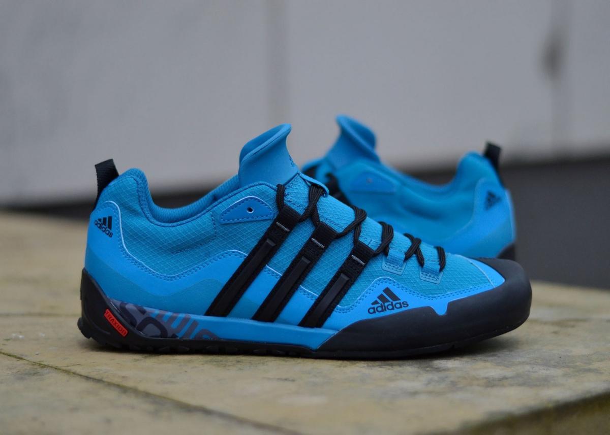 Mens Outdoors Adidas Terrex Swift Solo Shoes BlueBlack